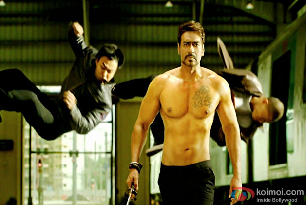 Yami Gautam and Ajay Devgn in a still from movie 'Action Jackson'