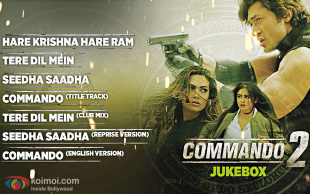 Check Out The Complete Audio Jukebox Of Vidyut Jammwal's Commando 2