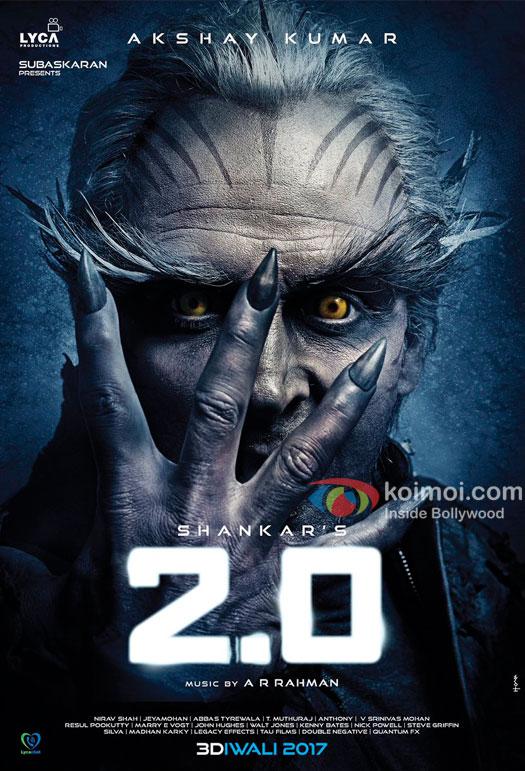 Akshay Kumar in a still from movie '2.0 (2017)'