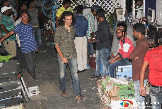 Imtiaz Ali shoots in R.K. Studios