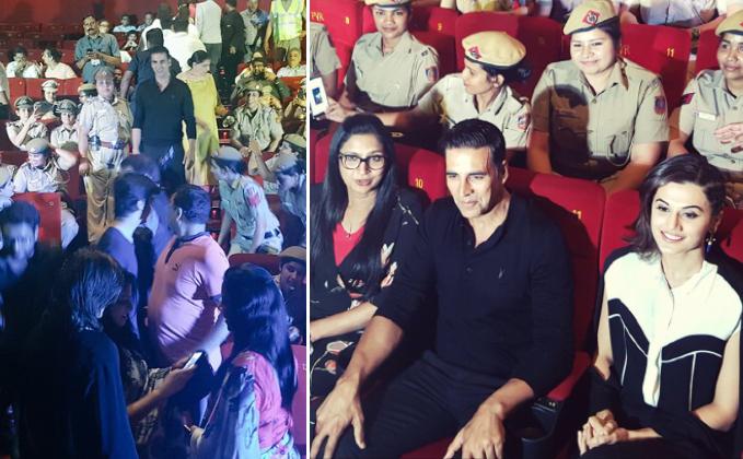 Photos: Akshay Kumar & Taapsee Pannu Screen Naam Shabana For Lady Police Officer