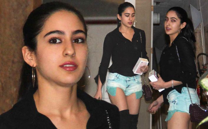 Sara Ali Khan Looks Stunning In HOT Shorts At Saif, Kareena's House Party