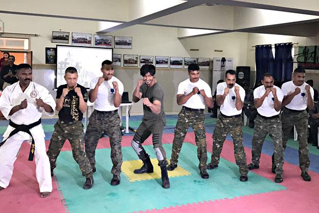 Commando 2 Stars Vidyut Jammwal Meet CISF Officials In Delhi