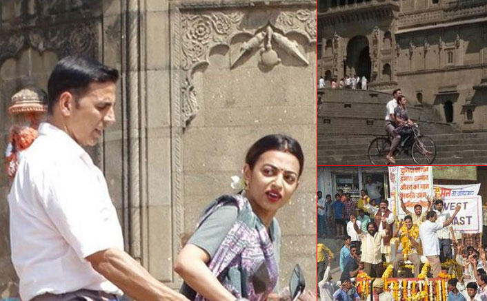 Here Are The Leaked Pics Of Akshay Kumar & Radhika Apte From PadMan