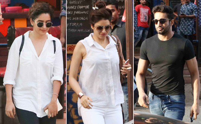 karishma Tanna with Upen Patel and other spotted at Bandra
