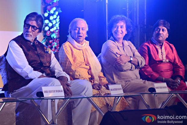 Amitabh Bachchan, Pt. Birju Maharaj, Ustad Zakir Hussain, Ustad Rashid Khan