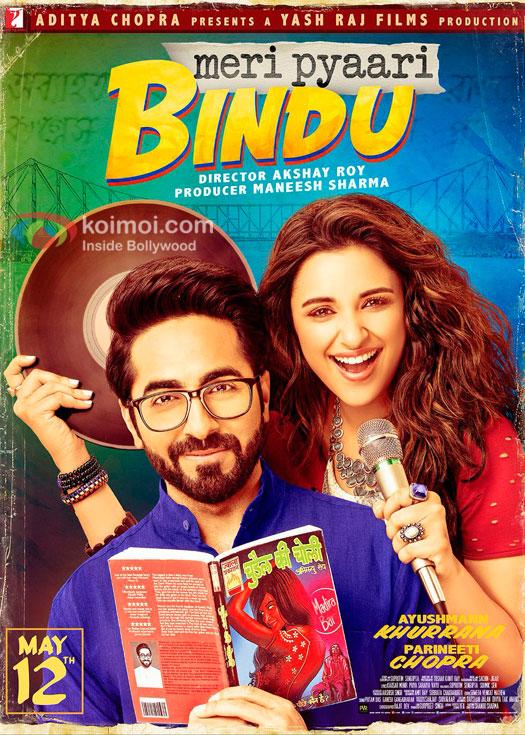 Meri Pyaari Bindu Poster: Geeky Ayushmann & Spunky Parineeti Are Here To Steal Your Hearts!