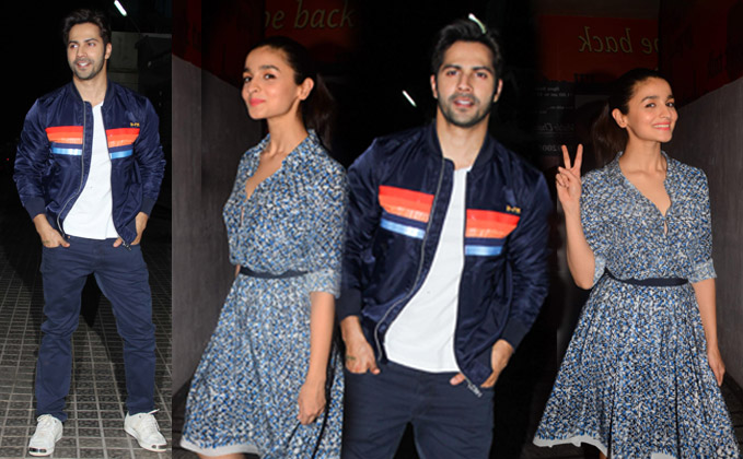 Alia Bhatt,Varun Dhawan Karan Johar and many more celebs attended Special Screening of Badrinath Ki Dulhania
