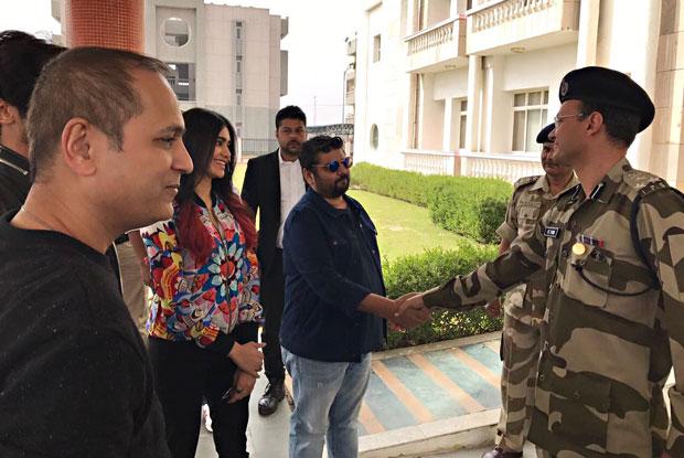 Commando 2 Stars Vidyut Jammwal And Adah Sharma Meet CISF Officials In Delhi