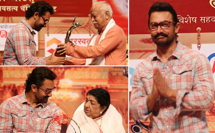 Aamir Khan Attends Master Dinanath Mangeshkar Puraskar 2017