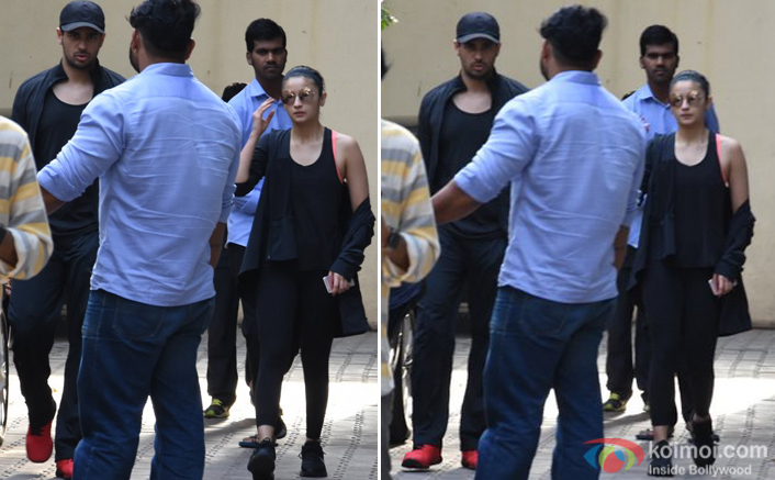 Alia Bhatt and Sidharth Malhotra spotted at vishesh films