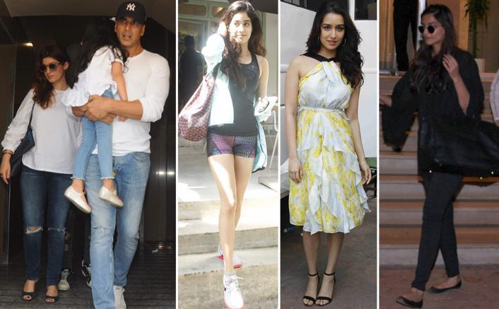 Bollywood Celebs Spotted: Sonam Kapoor, Akshay & Twinkle, Alia Bhatt, Malaika Arora, Shraddha & Arjun Kapoor And Others
