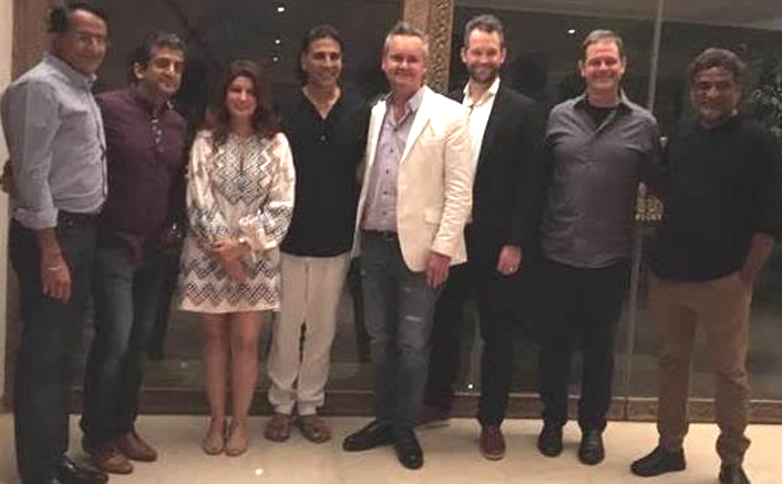 Head of Amazon Studios Roy Price meets Akshay Kumar while visiting Mumbai for Amazon Prime Video