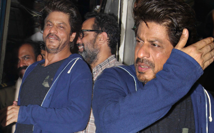 Spotted: Shah Rukh Khan spends an evening with director Anand L Rai at a Bandra bar