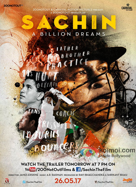Sachin: A Billion Dreams Brand New Poster: Showcases The Different Stages Of Sachin's Life