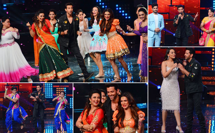 Hritik Roshan on the set of Nach Baliye