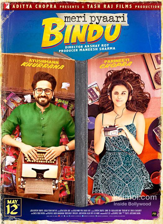 Meri Pyaari Bindu Poster | Parineeti Chopra & Ayushmann Khurrana Are Two Sides Of The Cover
