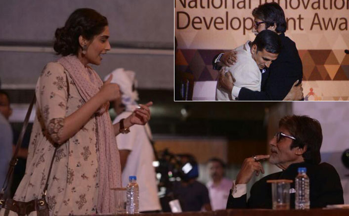 Pictures: Amitabh Bachchan Shoots With Akshay Kumar & Sonam Kapoor For Padman