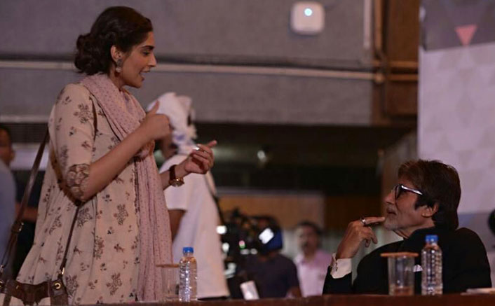 Pictures: Amitabh Bachchan Shoots With Sonam Kapoor For Padman