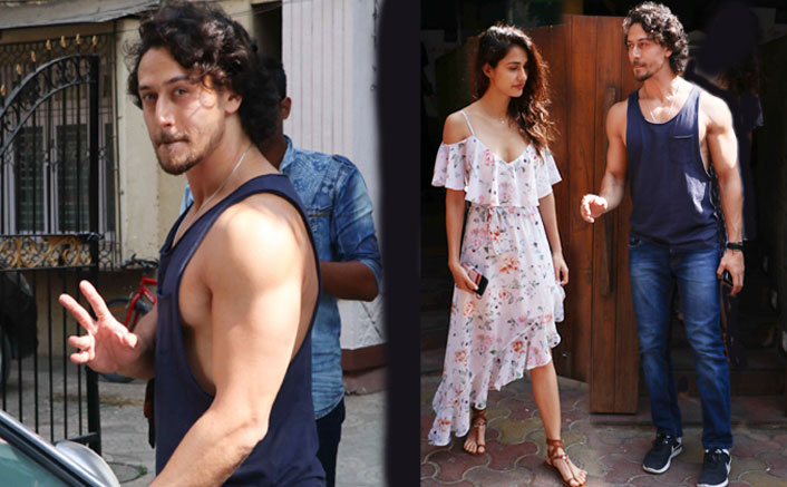Tiger and disha spotted at indigo cafe