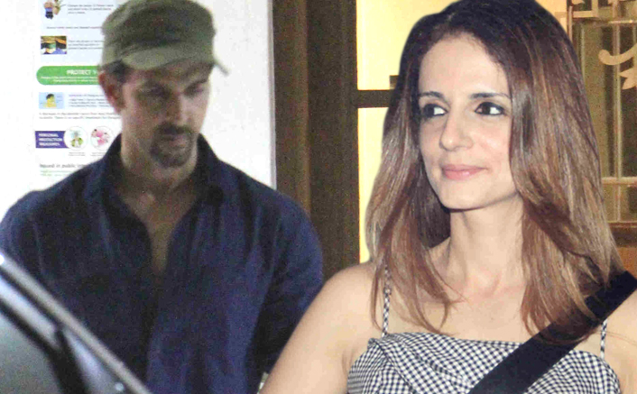 Hrithik Roshan and Sussanne Khan's spotted at sanjay's house