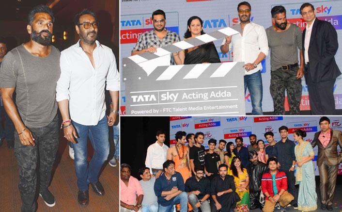 Ajay Devgan n Sunil Shetty at Tata Sky pioneering initiative