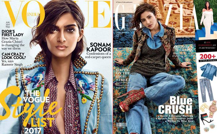 Anushka & Sonam Get the Denim Trend Back in June Magazine Covers