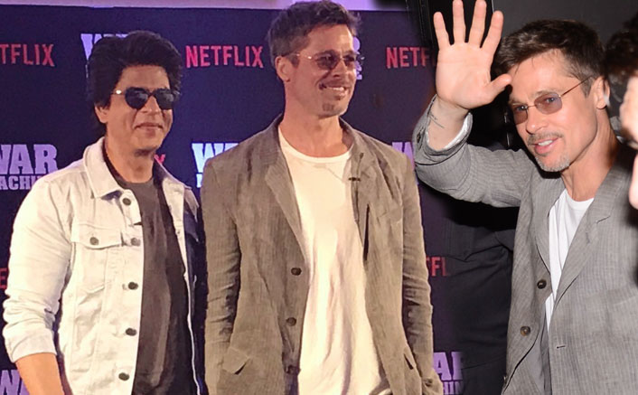 "Brad Pitt Promotes ""War Machine"" In India"