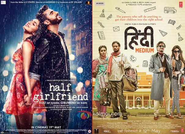 Half Girlfriend and Hindi Medium Poster