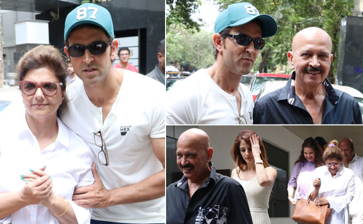 Hrithik Roshan Snapped With Family Celebrating Mother's Day At Hakkasan