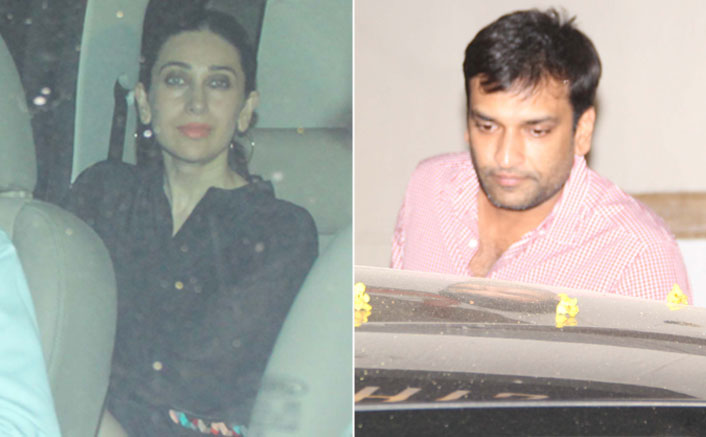 karishma kapoor with her rumoured boyfriend spotted at kareena kapor's house