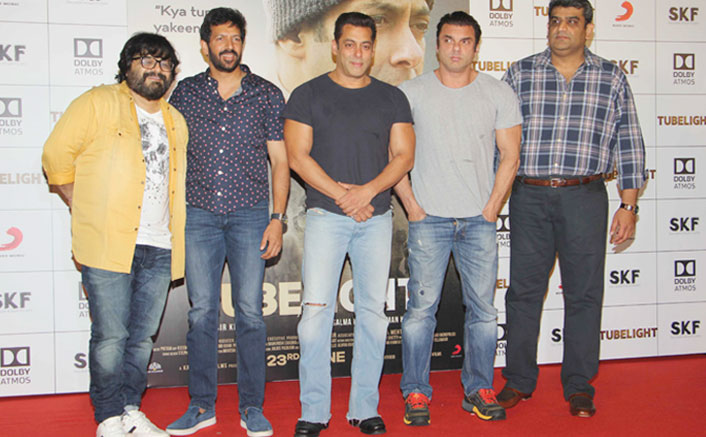 Salman Khan, Sohail Khan, Kabir Khan & Pritam Unveiled the Trailer of Tubelight