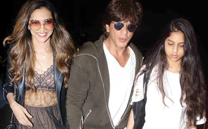 Srk with daughter spotted at airport