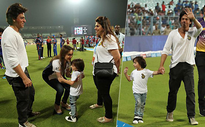 SRK races with son AbRam on the Eden turf
