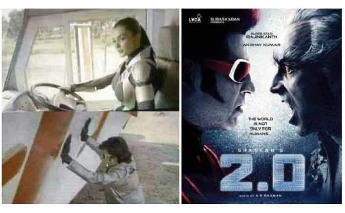 Amy Jackson's Robotic Look, Rajinikath's Big Action Scene | 2.0's LEAKED Pictures
