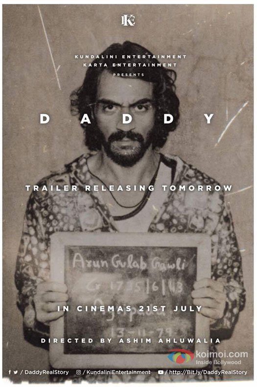 Arjun Rampal's Daddy Trailer Arrives Tomorrow At This Time