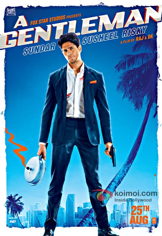 First Look Posters Of Sidharth From 'A Gentleman' Is Extremely Badass