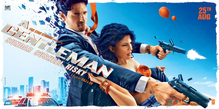 First Look Posters Of Sidharth & Jacqueline From 'A Gentleman' Is Extremely Badass
