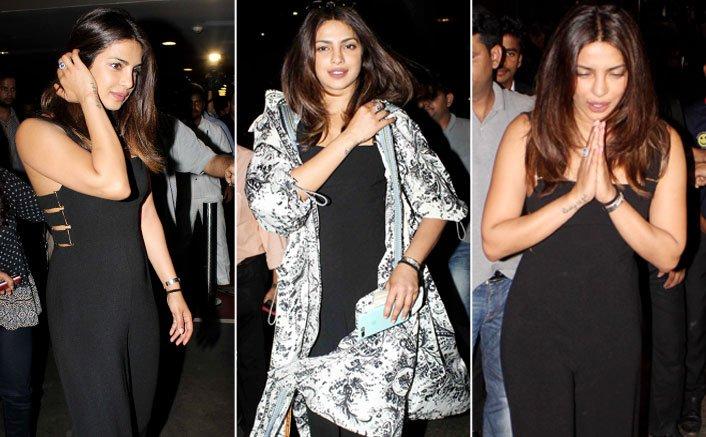 PHOTOS! Priyanka Chopra Gets A Warm Welcome At The Mumbai Airport