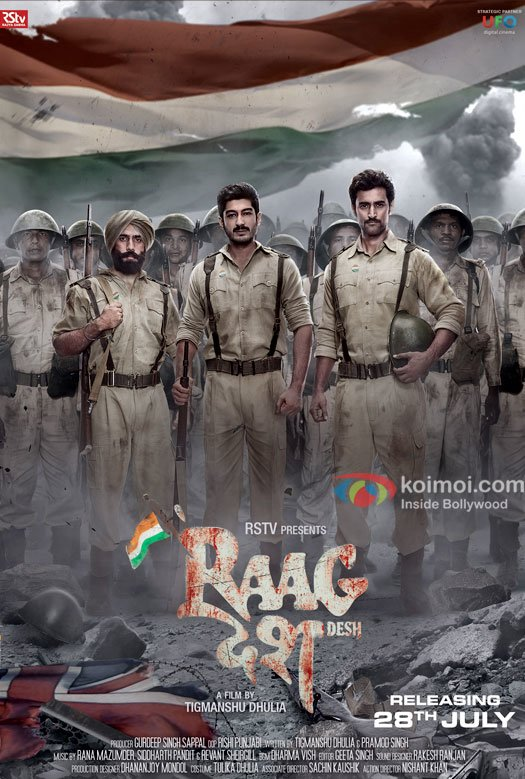 Poster of Tigmanshu Dhulia's 'Raagdesh' released today