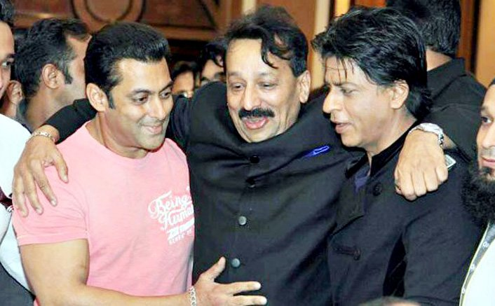 Bollywood Stars Shah Rukh Khan & Salman Khan Attend Baba Siddique's Iftar Party