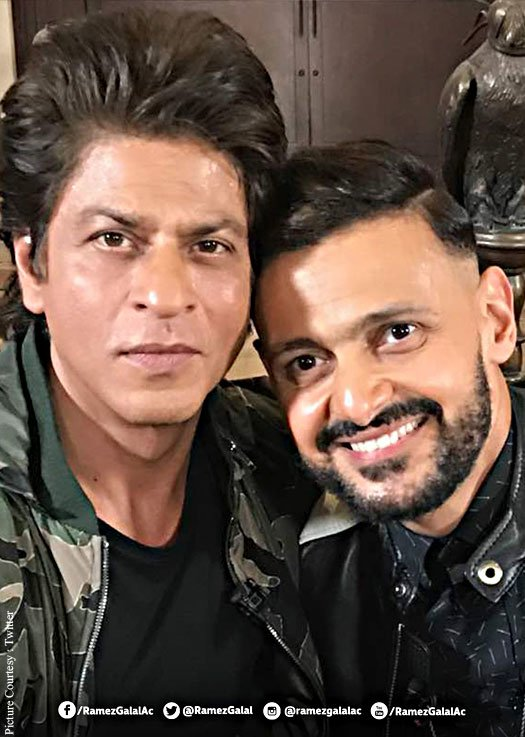 The comedian Ramez posted a selfie with SRK