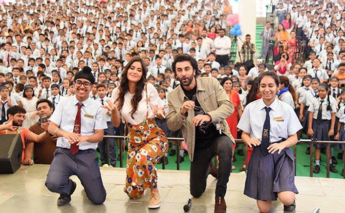 Jagga Jasoos takes Ranbir Kapoor and Katrina Kaif to Delhi school!
