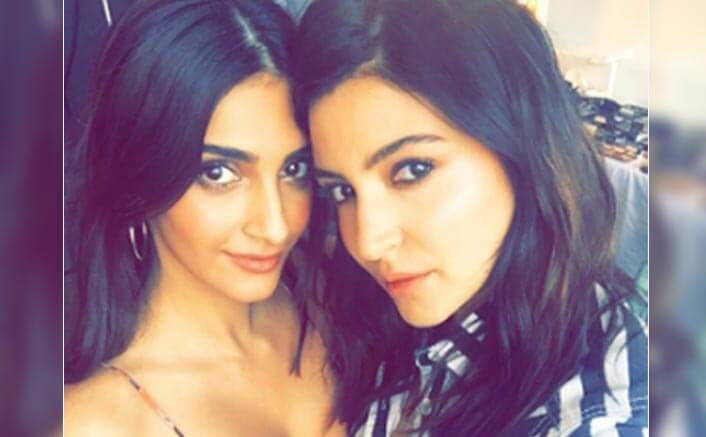 Sonam & Anushka Share A Special Bond On The Sets On Sanjay Dutt Biopic