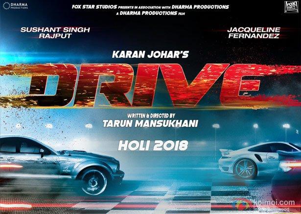 POSTER ALERT! Sushant Singh Rajput And Jacqueline Fernandez Starrer 'Drive'