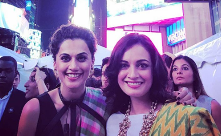 Tapsee, Dia turn showstoppers for Times Square fashion show