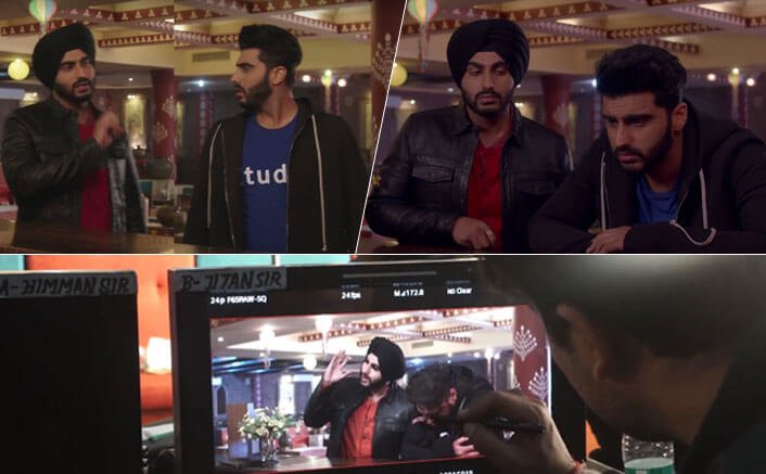 Witness the hard work that went on behind the making of Karan and Charan from Mubarakan