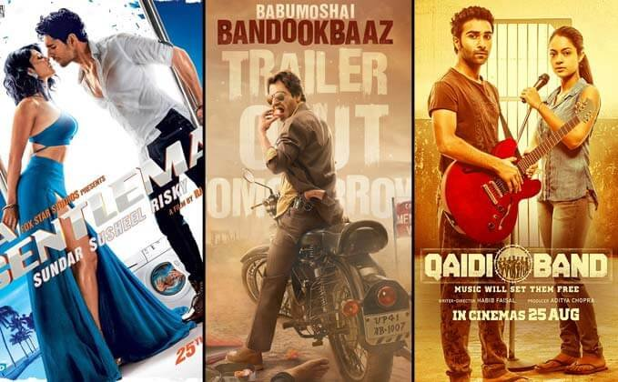 Box Office updates - A Gentleman, Babumoshai Bandookbaaz and Qaidi Band Friday collections