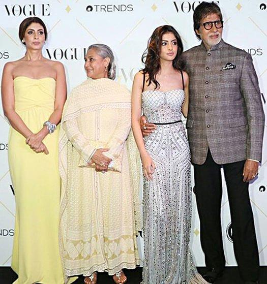 Shweta Bachchan Nanda, Jaya Bachchan, Navya Naveli Nanda and Amitabh Bachchan