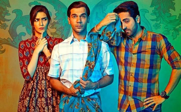 Rajkumar dons a saree as Kriti and Ayushmann look on in this endearing poster of 'Bareilly ki Barfi'